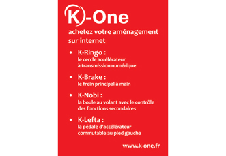 K-One propose des amenagements vehicules pour handicapes